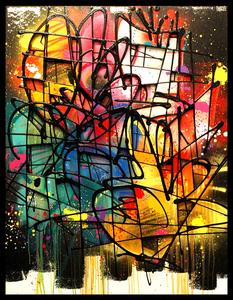 NEBAY - Painting - Profondeurs Colorées