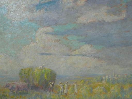 Paul DE LAPPARENT - Gemälde - PAYSAGE AVEC PAYSANS