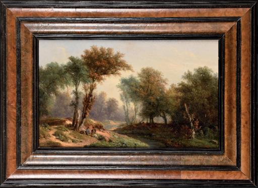"""Jules DUPRÉ - Gemälde - c.1880-89  """"A route in the forest of Compiègne"""""""