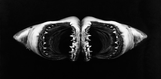 Robert LONGO - Stampa Multiplo - Double Shark