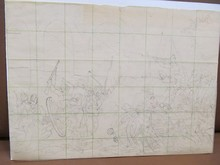 Ferdinand HODLER - Dibujo Acuarela - Entwurfsskizze zu einer Gefechtsszene