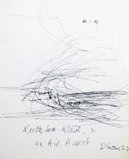 Douglas SWAN - 水彩作品 - North sea wave & an Air aspect