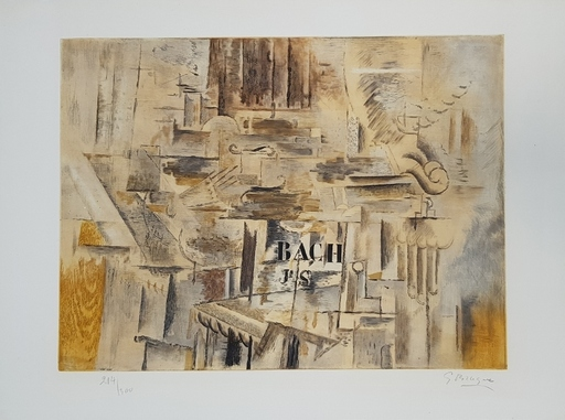 Georges BRAQUE - Druckgrafik-Multiple - Hommage à J.-S. Bach