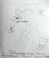 "Jean LURÇAT - Dibujo Acuarela - ""Le coq"""