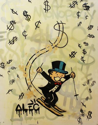 Alec MONOPOLY - Peinture - Sky Dollar