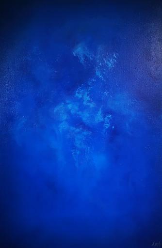 Elodie DOLLAT - Gemälde - Monochrome bleu II