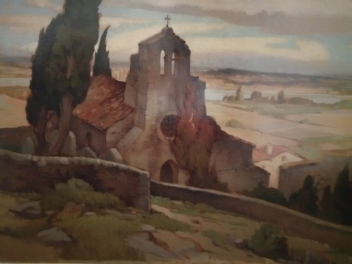 Luc BARBIER - Pintura - Rochemaure - Notre Dame des Anges