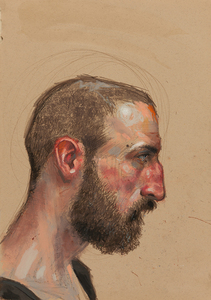 H. Craig HANNA - Drawing-Watercolor - Profil à la Barbe