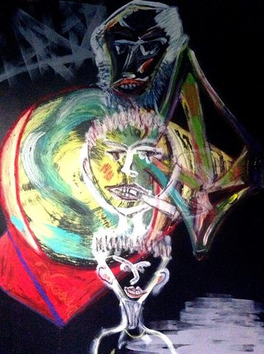 Christine DUMAS DE RAULY - Peinture - Animals