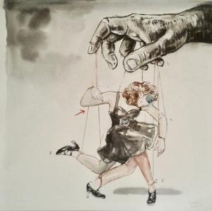 Mohamed LEKLETI - Disegno Acquarello - Untitled