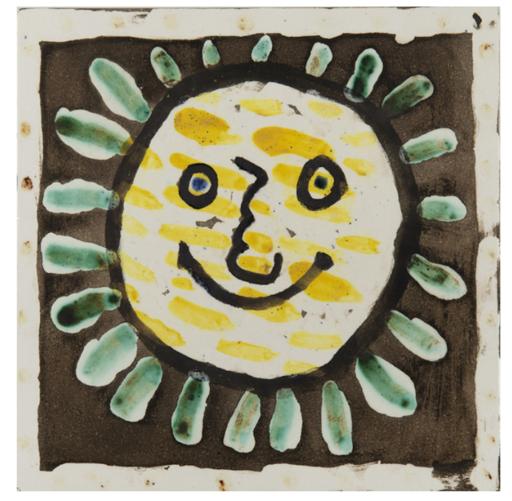 Pablo PICASSO - Ceramic - Visage Solaire