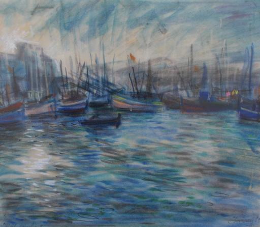 Pierre CHARTRON - Drawing-Watercolor - Saint Cyprien Soleil couchant