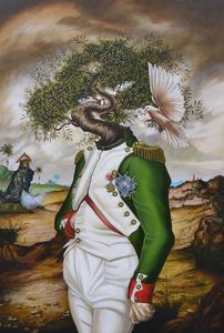 Carlos SABLÓN - Peinture - Le Général dans son Labyrinth