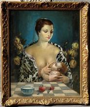 Ermès D'ODORICO - Gemälde - MATERNITE SURREALISTE