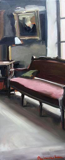Christoff DEBUSSCHERE - Pintura - Le canapé rose
