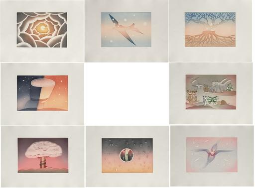 Jean-Michel FOLON - Grabado - A propos de la Création
