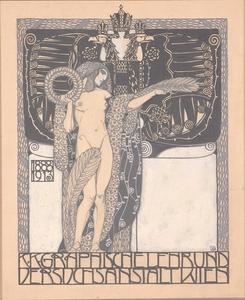 Sergius HRUBY - Dessin-Aquarelle - Cover Design, Vienna Art Nouveau, 1913