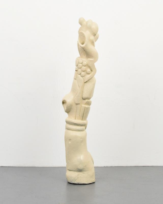 Robert LOHMAN - Scultura Volume - Massive Robert Lohman Modernist Carved Wood Sculpture