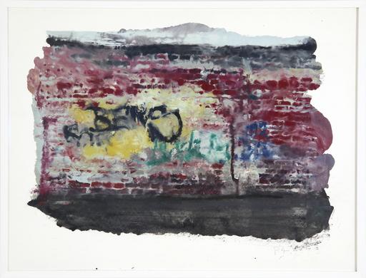 Philippe COGNÉE - Disegno Acquarello - Paysage urbain