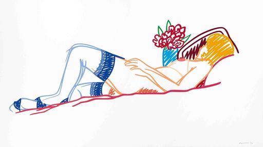 Tom WESSELMANN - Stampa-Multiplo - Nude with bouquet and stockings
