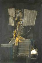 Piero RUGGERI - Pintura - Uomo in grigio