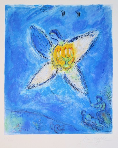 Marc CHAGALL - Estampe-Multiple - *Angel With Candlesticks C.46