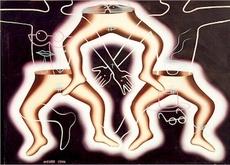 Mark KOSTABI - Painting - Balancing the Budget