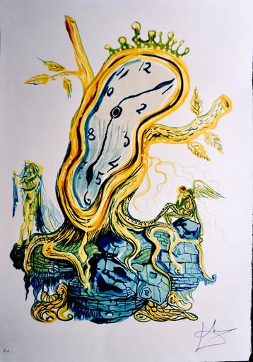 Salvador DALI - Druckgrafik-Multiple - Time Stillness of Time