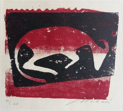 Ewald MATARÉ - Print-Multiple - Liegende KuhII