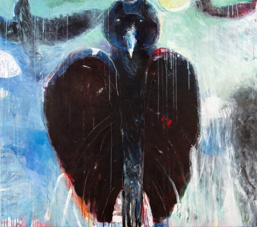 Rick RIVET - Pittura - Nocturnal Being No 13