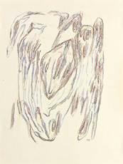 Henri MICHAUX - Dibujo Acuarela - Dessin post-mescalinien