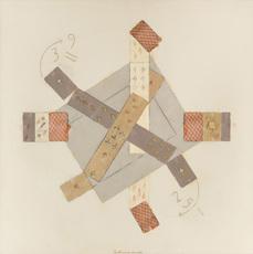 Vladimir Nikolaevich NEMUKHIN - Painting - Composition with Four Aces