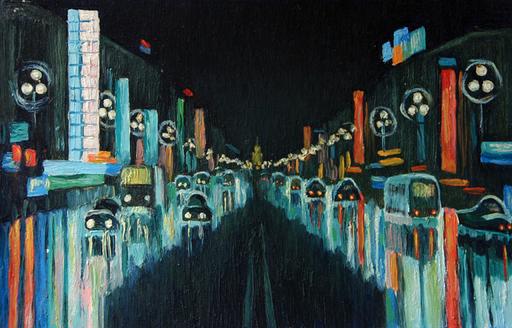 Valeriy NESTEROV - Painting - Khudozhestvenniy cinema. Leningrad