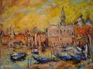 Michel CALVET - Painting - Venise doré