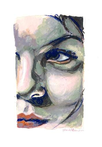 Mercedes HELNWEIN - 水彩作品 - CLOSE-UP I