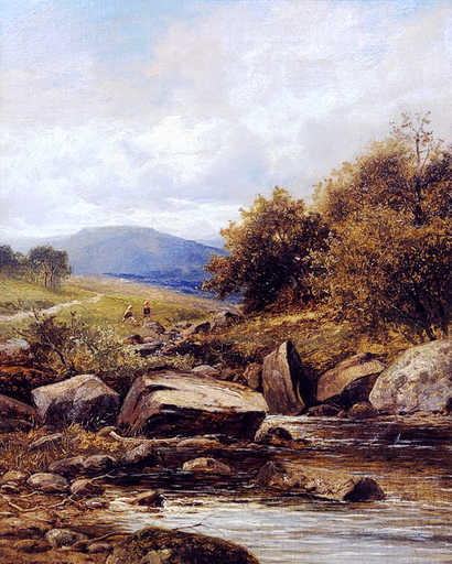 William Henry MANDER - Pintura - A Tributary of the Lledr