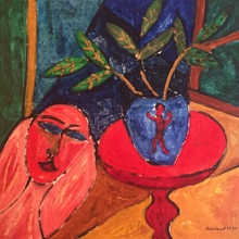Christian DURIAUD - Pittura - Blue vase