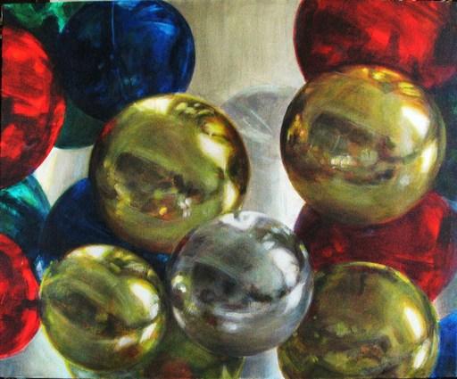 Rita DI BENEDETTO - Peinture - Jeux de Boules en Apesanteur et en Miroir