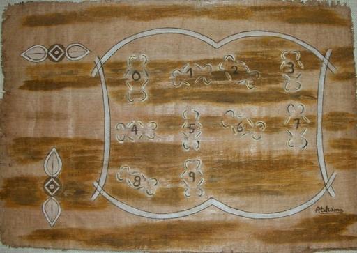 ATCHAMA - Painting - symbole des chiffres