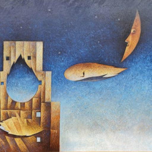 Franco FORTUNATO - Pittura - Quarto piano sull'infinito