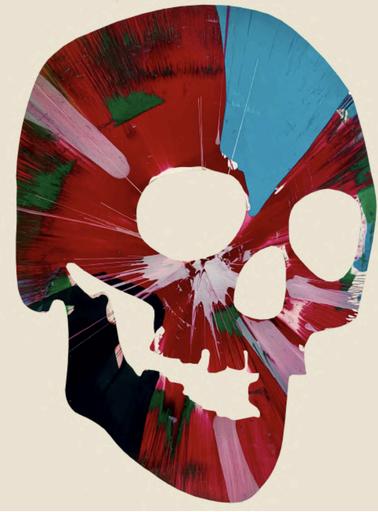 Damien HIRST - Painting - Skull Spin