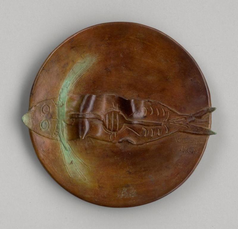 Wifredo LAM - Sculpture-Volume -  Pez (Assiette au Poisson)