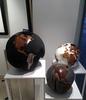 Bruno HELGEN - Escultura - Globe Aluminium Hammered