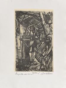 Luigi BARTOLINI - Estampe-Multiple - La ragazza del circo