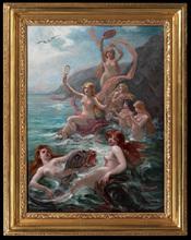 Adolphe LALIRE - Peinture - Le Concert des Sirenes
