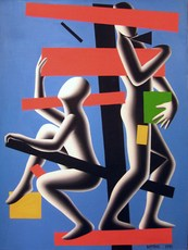 Mark KOSTABI - Painting - Frame of reference
