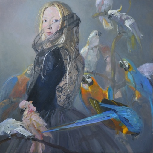 Sophie MORISSE - Painting - Dentelle noire aux cancaneurs