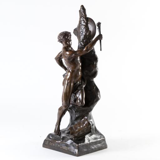 Emile Louis PICAULT - Escultura - Le Genie de L'Humanite