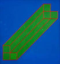 Edoardo LANDI - Painting - Bistruttura Prospettica 69.73