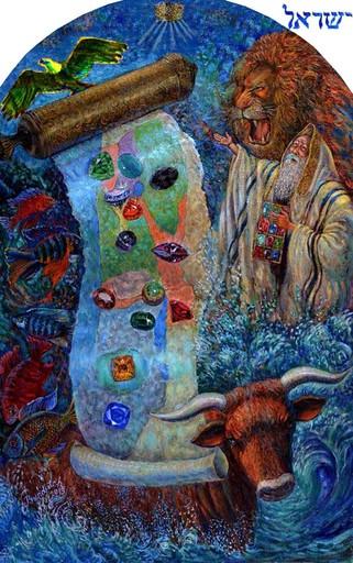 "Victor BRINDATCH - Peinture -  "" ""Father Jacob  - ancestor"""